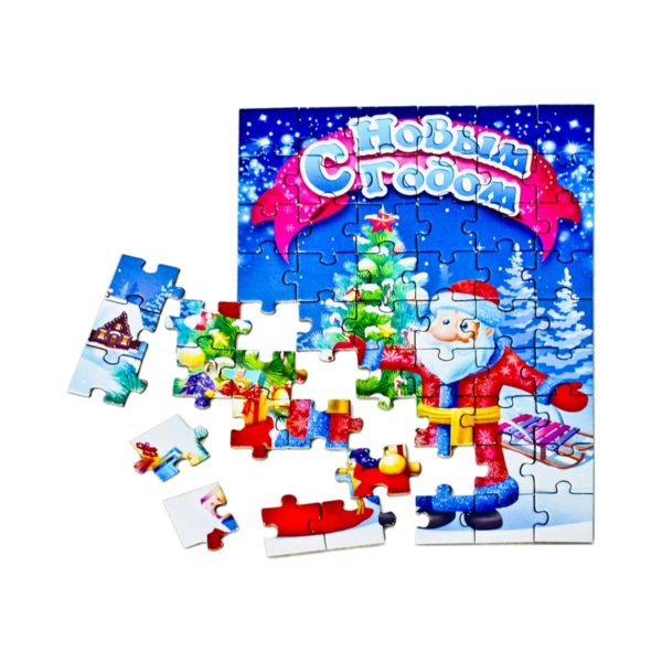 Вложение в детский новогодний подарок Пазл