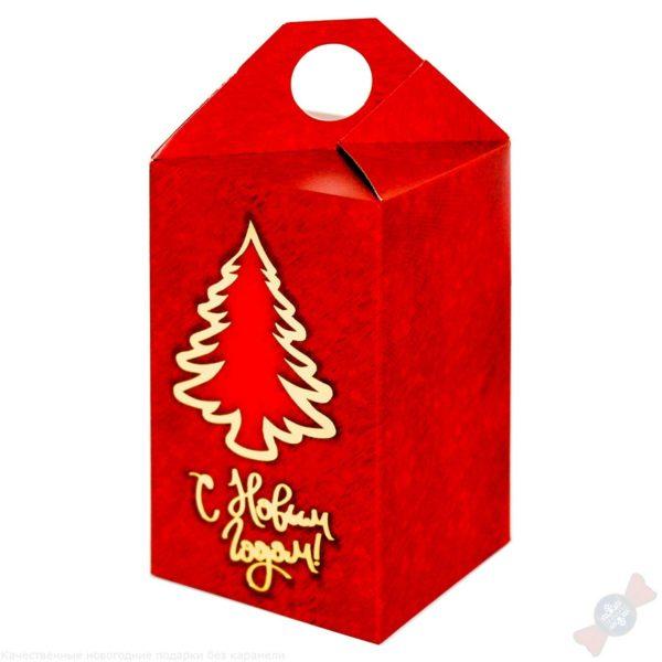 Новогодний подарок Презент красный
