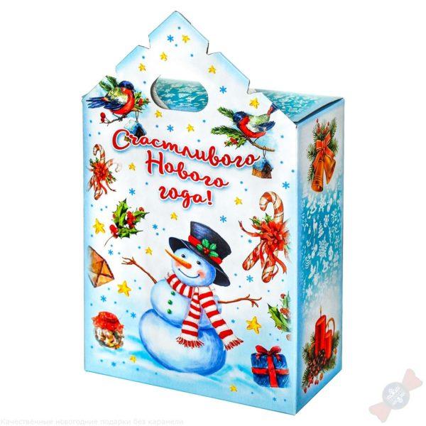Подарок в картонной упаковке Снеговики