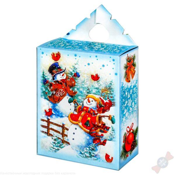 Подарок с вложением Снеговики