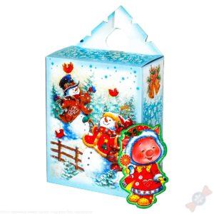 Комбинированный подарок Снеговики