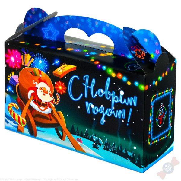 Комбинированный подарок в картонной упаковке Новогодняя ночь