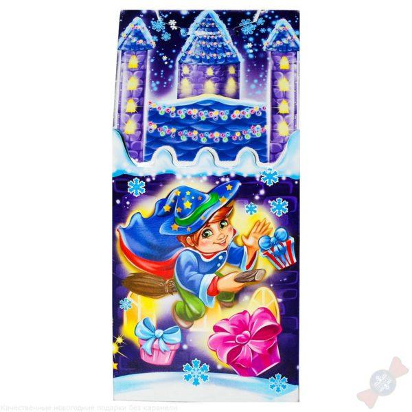 Сладкий комбинированный подарок на новый год Волшебный замок