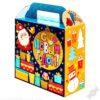 Новогодний подарок в красивой упаковке Мишутка с золотой фольгой