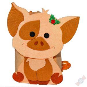 Детский подарок на новый год символ года Пятачок рюкзачок