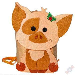 Фетровый рюкзак для детей Пятачок рюкзачок
