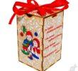 Новогодний подарок в деревянной упаковке Ящик для мелочей