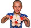 Детский новогодний подарок Пэрсик с ребёнком