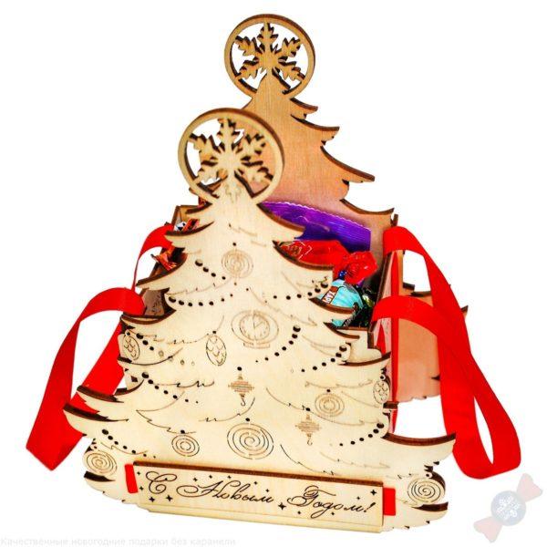 Новогодний подарок в деревянной упаковке Торжество