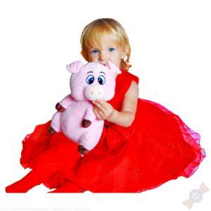 Девочка с новогодним подарком Фунтик