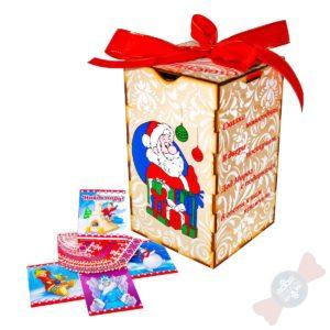 Новогодний подарок из дерева Ящик для мелочей