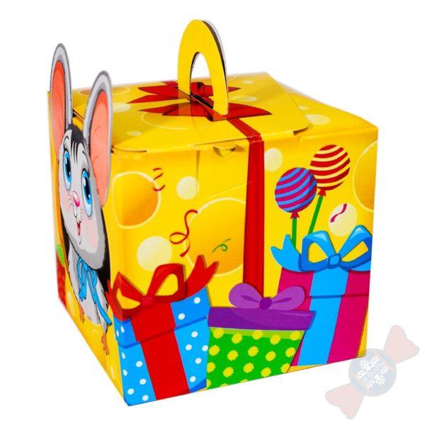Мышка-Норушка новогодний подарок сбоку