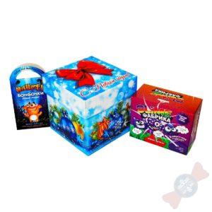 Сладкий новогодний подарок Новогодняя фабрика мастерства Деда Мороза