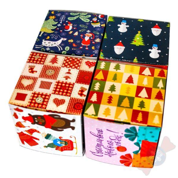 Кубик в кубе сладкий подарок на новый год