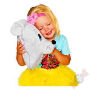 Девочка с новогодним подарком Мышка-Плед-Подушка