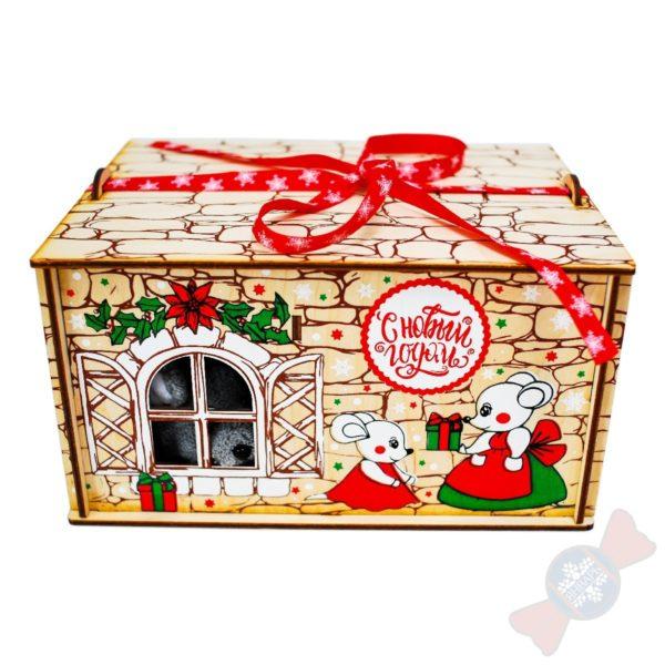 Новогодний подарок символ года Мышуля с ипотекой