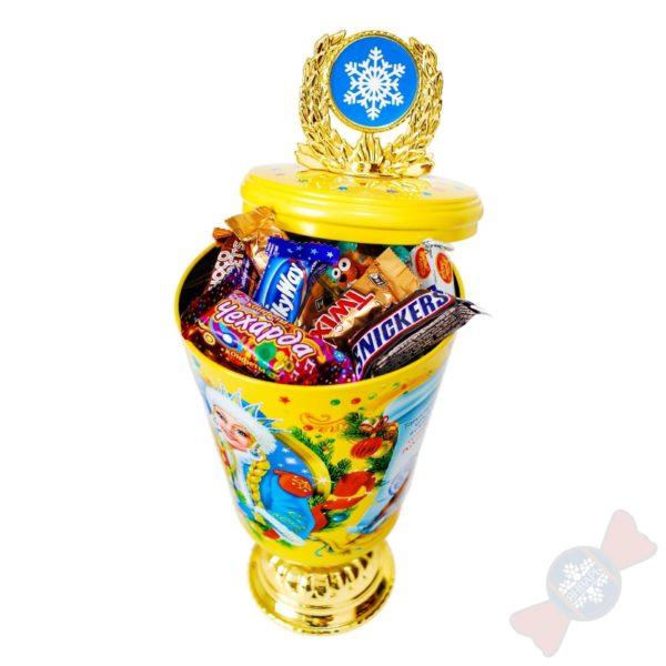 Жестяная упаковка Сладкий подарок Кубок самому лучшему ребенку
