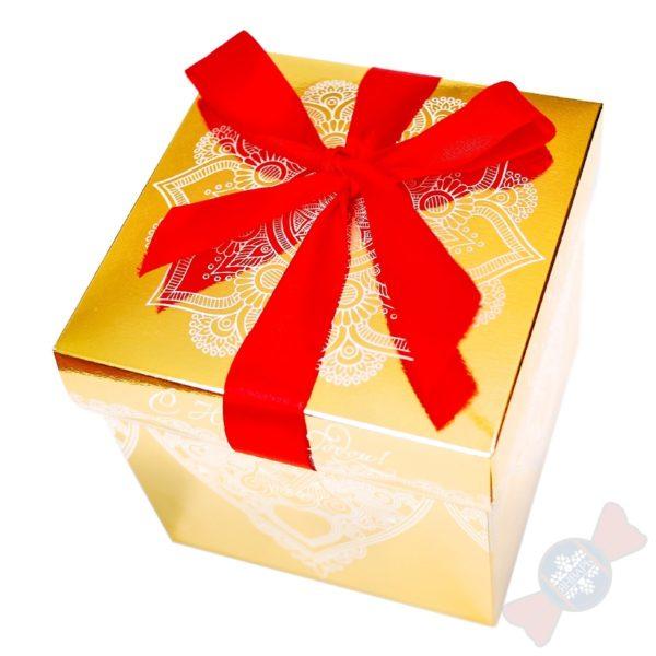 Новогодняя упаковка Золотой куб