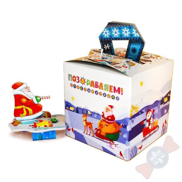"""Новогодний подарок с конфетами """"Снежинка"""""""