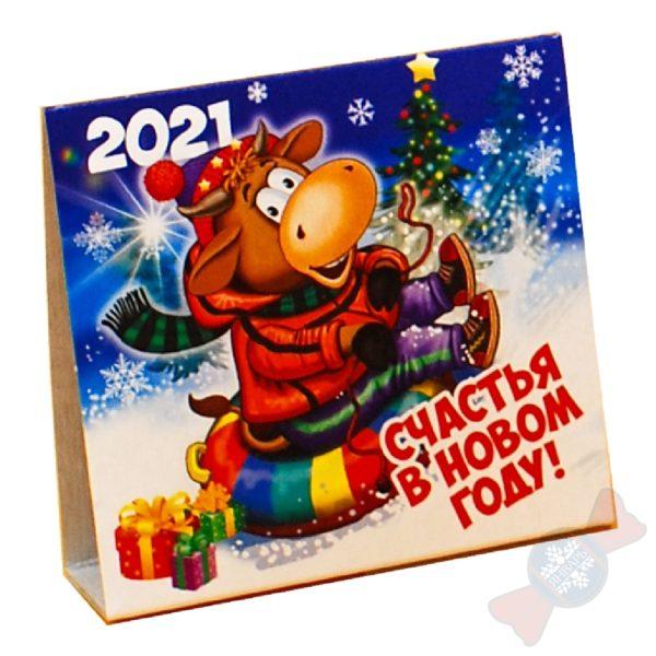 Сладкие новогодние подарки Вложение календарь 2021