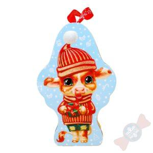 Сладкий новогодний подарок символ года 2021 «Маленький Мук»