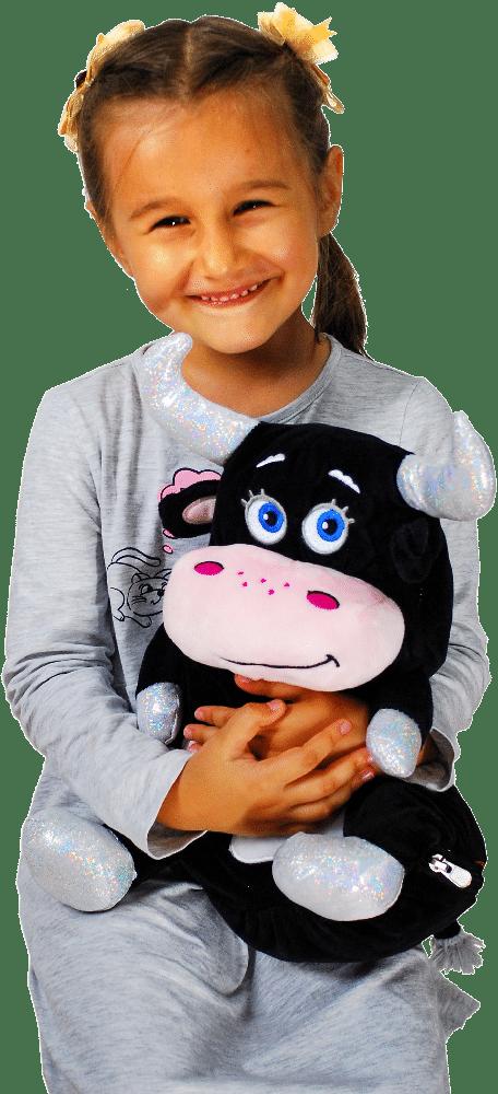 Ребенок с новогодним подарком Тучка