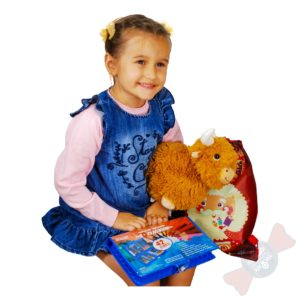 Новогодние подарки в детский сад Ребенок с новогодним подарком 2021 «Рюкзак для творчества»