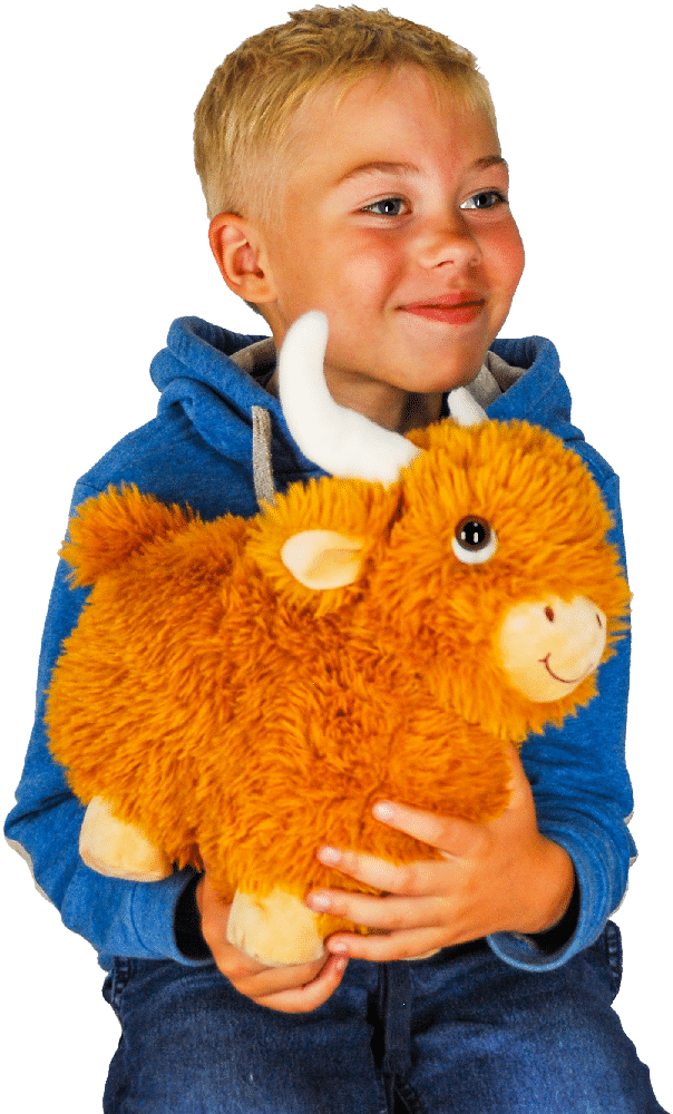 Ребенок с новогодним подарком Мэни