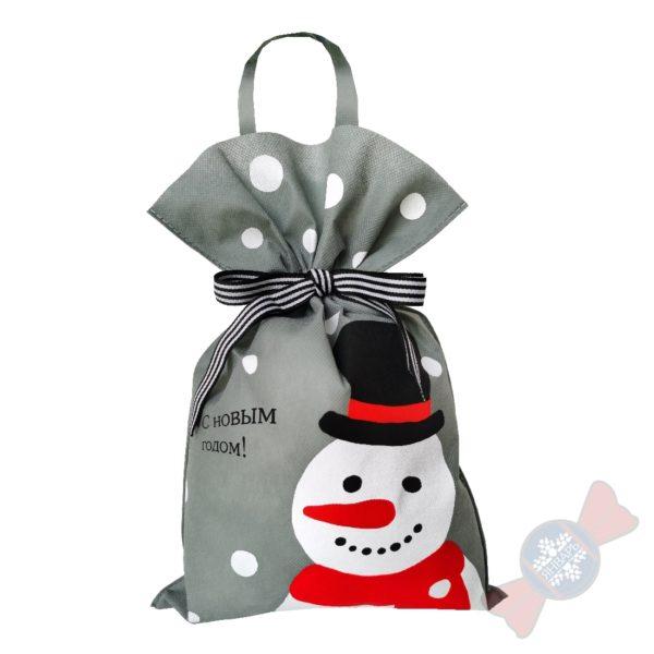 "Новогодний подарок с конфетами ""Снеговик"""