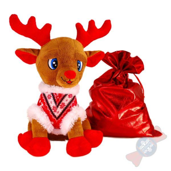"""Новогодний подарок с конфетами """"Олень Рудольф"""""""